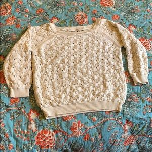 Zara cream knit sweater